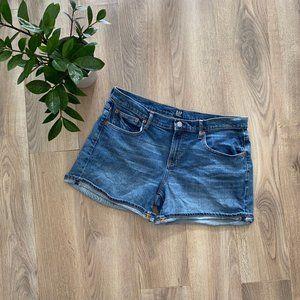 GAP Blue Cuffed Jean Shorts